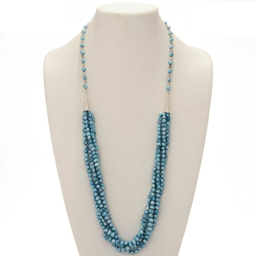 Blue Freshwater Pearl Necklace 17586
