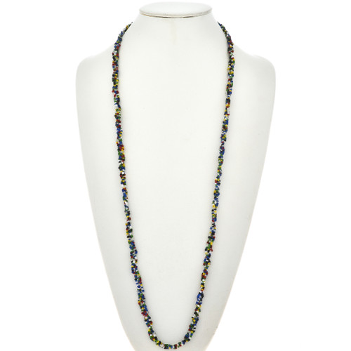 Seed Bead Navajo Squaw Wrap Necklace 15021