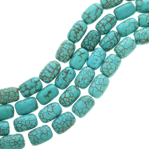 Chunky Necklace Turquoise Magnesite Beads 30860