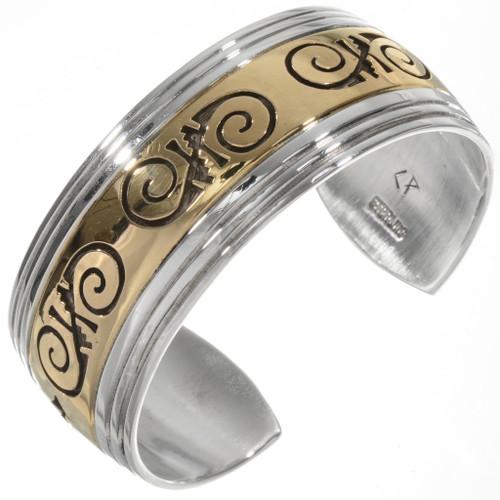 Gold Silver Navajo Made Bracelet 10780