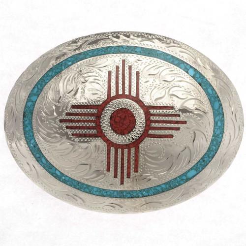Zia New Mexico Belt Buckle 18966