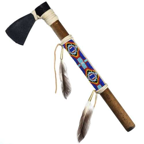 Buckskin Beaded Tomahawk