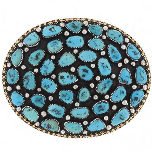 Sleeping Beauty Turquoise Belt Buckle 18910