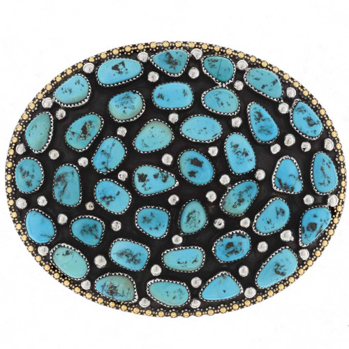 Sleeping Beauty Turquoise Belt Buckle 18910
