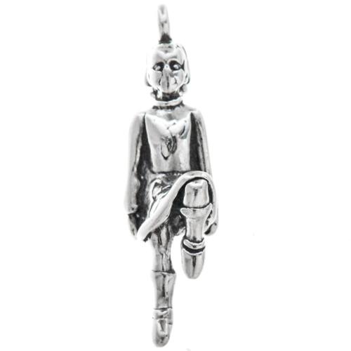 Sterling Silver Irish Dancer Charm Bracelet Charm Pendant Necklace