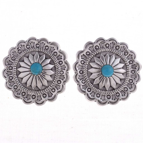Turquoise Concho Earrings 24613