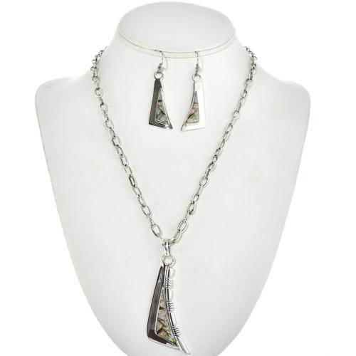 Opal Carnelian Inlaid Y Necklace Set 15188