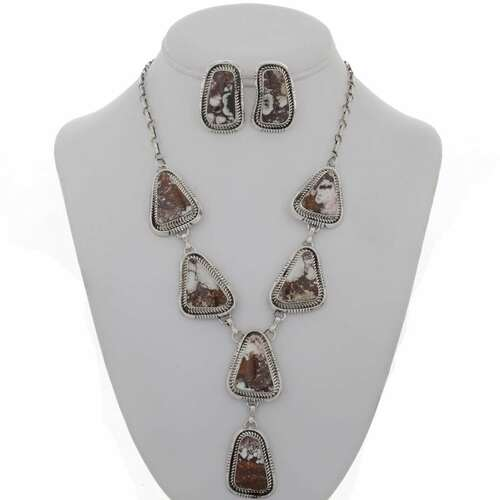 Wild Horse Silver Cuff Ring Earrings 26712
