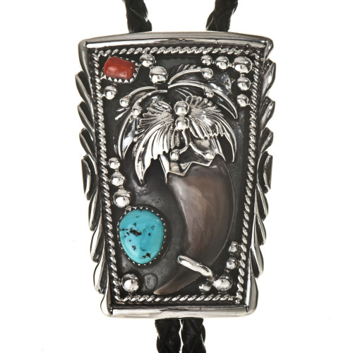 Turquoise Coral Bolo Tie 23417