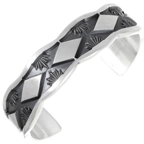 Large Navajo Hand Made Sterling Bracelet 26111