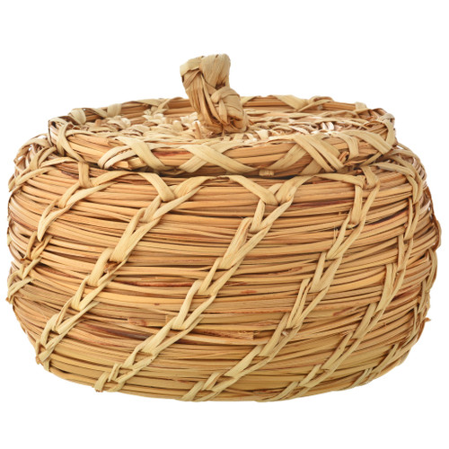 Papago Indian Basket With Lid 21407