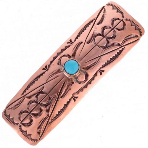 Copper Turquoise Barrette 24414