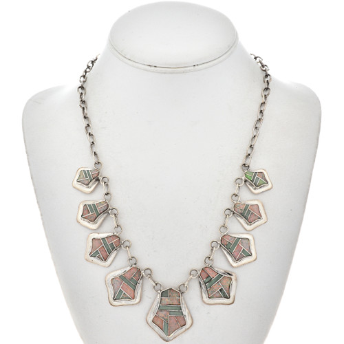 Opal Turquoise Silver Necklace 15180