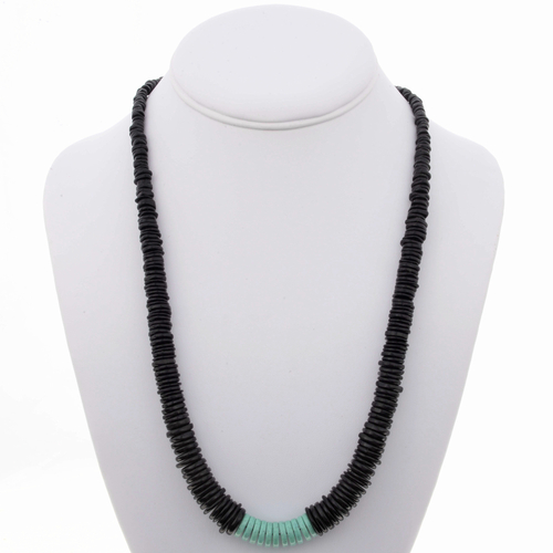 Jet Turquoise Beaded Necklace 24966