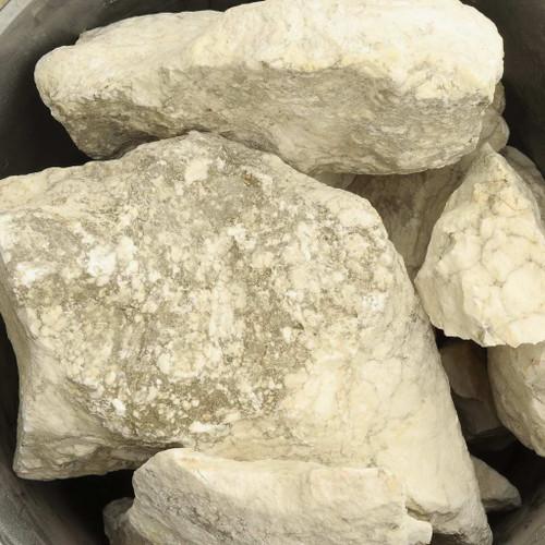 Opaque White Alabaster Gypsum Natural Rough Stones Ten Pound Lot