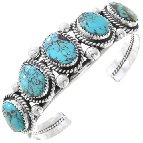 Navajo Turquoise Silver Bracelet 21127