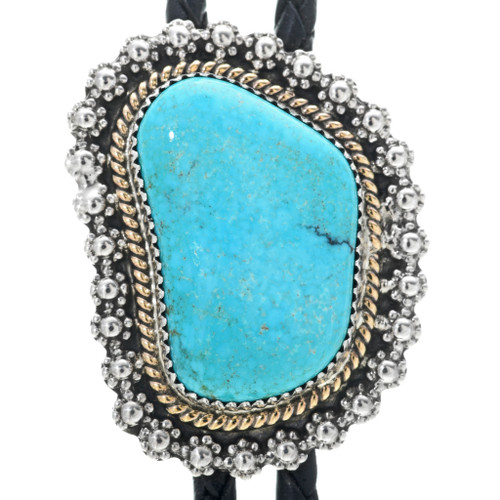 Turquoise Silver Bolo Tie 25920