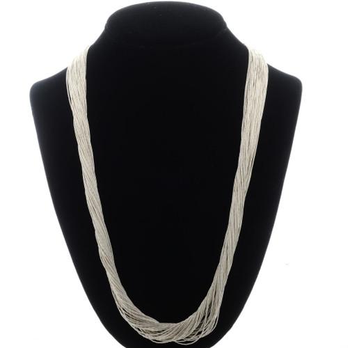 50 Strand Liquid Silver Necklace 32637