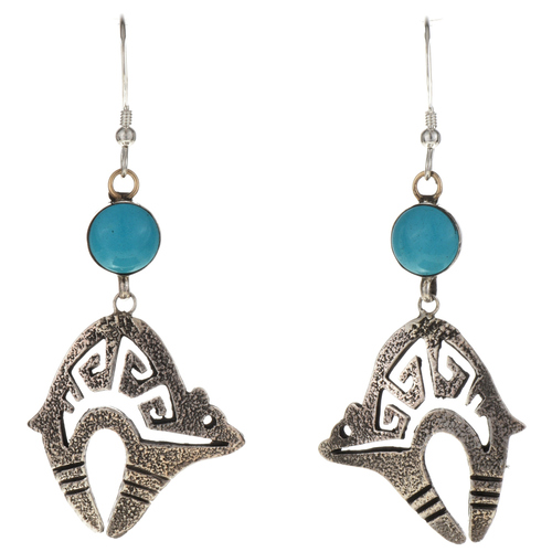 Blue Turquoise Earrings 26206