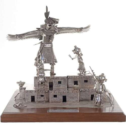 Handmade Sterling Kachina Display 22108