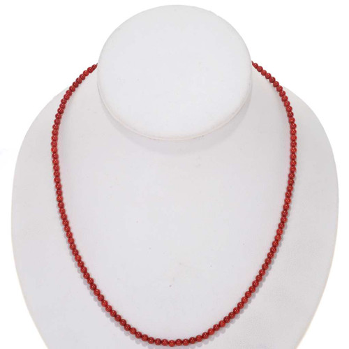 Bamboo Red Coral Beads 25524