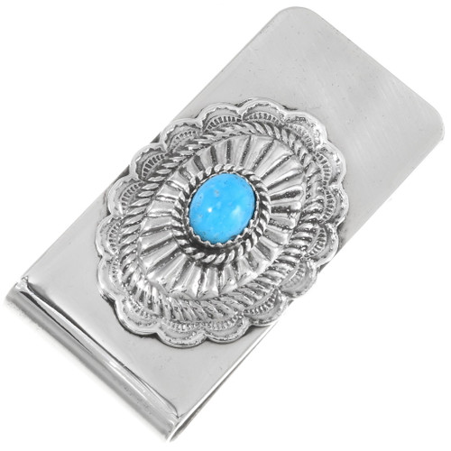 Turquoise Silver Concho Money Clip 24737