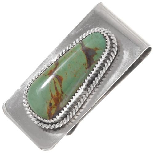 Navajo Turquoise Silver Money Clip 24439