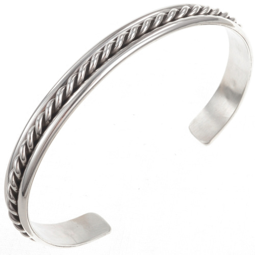 Navajo Sterling Cuff Bracelet 23133