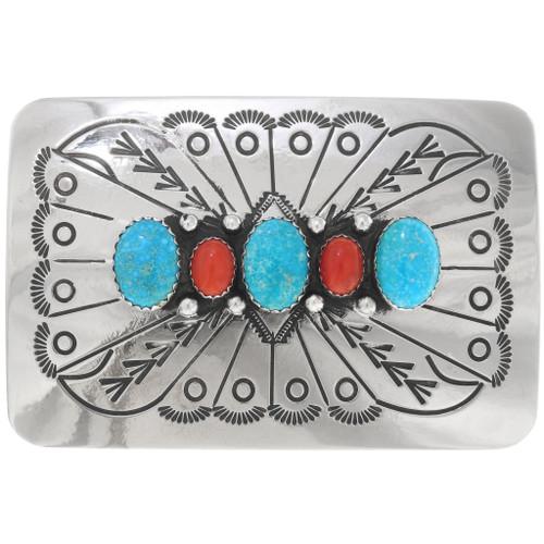 Navajo Turquoise Belt Buckle 13978