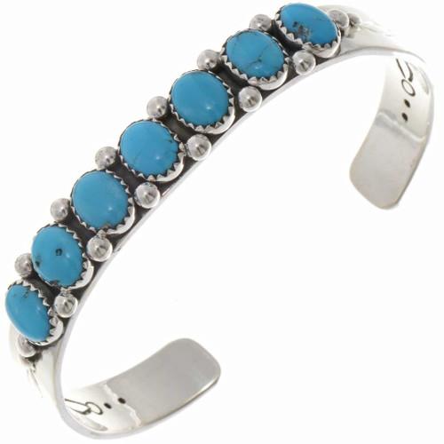 Mens or Ladies Turquoise Row Bracelet 25685