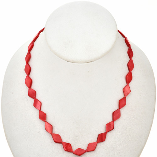 8mm Red Pearl Beads 16 inch Long Strand