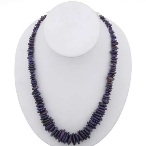 Navajo Purple Turquoise Necklace 26784