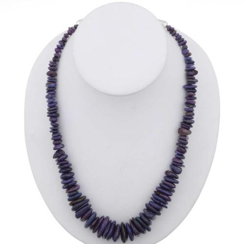 Navajo Purple Turquoise Necklace 26784