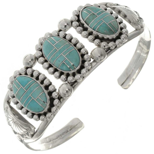 Inlaid Turquoise Ladies Bracelet 23935