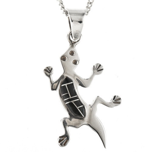 Sterling Gecko Pendant with Chain12598