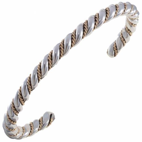 Navajo Twist Wire Silver Gold Bracelet 19690