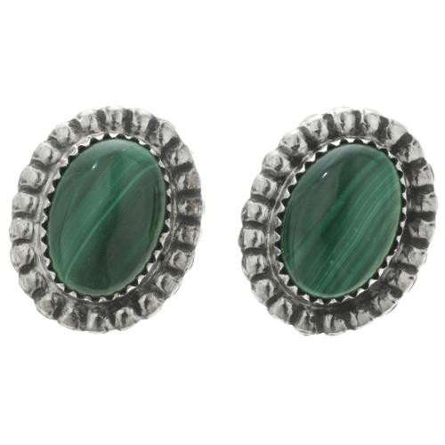 Malachite Southwest Silver Earrings 22037