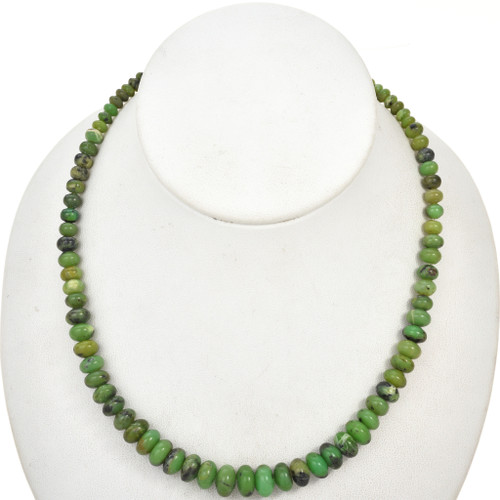 2mm by 4mm to 5mm by 10mm Graduated Australian Jade Rondel Beads 16 inch Strand