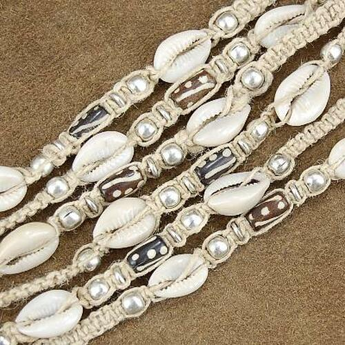 Wholesale Lot of 12 Cowrie Shell Bead 19 inch Long Strands 2