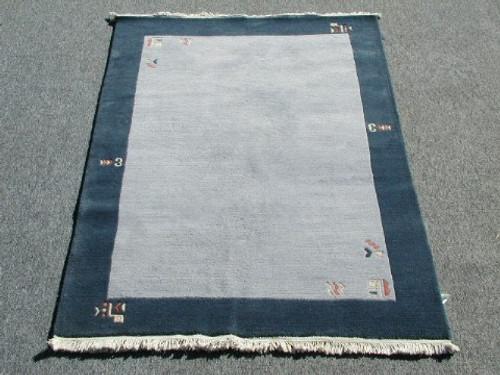 Hand Knotted Wool Rug Plush Modern Nepal 4 x 6 Feet
