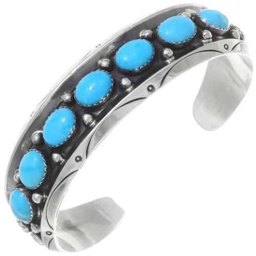 Navajo Turquoise Silver Bracelet 25051