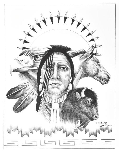 Warrior Animal Totems Navajo Art 17199