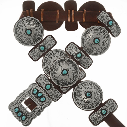Sleeping Beauty Turquoise Silver Concho 23388