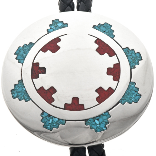 Turquoise Coral Bolo Tie 23420