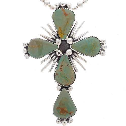 Green Turquoise Cross Pendant 25279