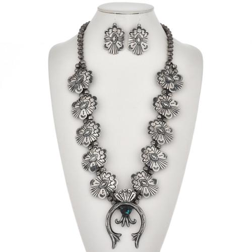 Navajo Squash Blossom Necklace 19683