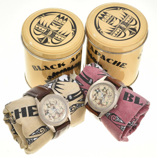 American Indian Themed Leather Band Watch 90998