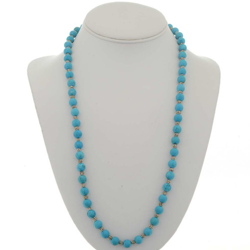 Turquoise Bead Necklace 23628