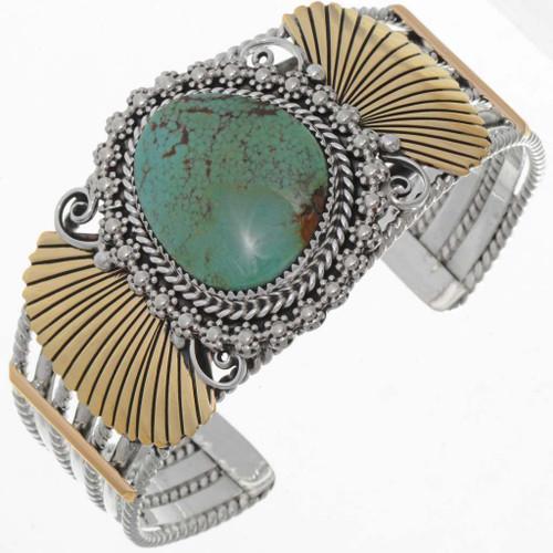 Silver Gold Navajo Cuff 25861