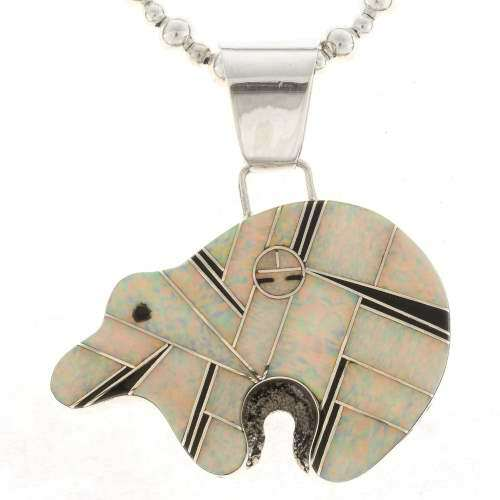 Zuni Style Bear Pendant 15194